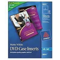 Inkjet DVD Case Inserts, Matte White, 20/Pack (並行輸入品)