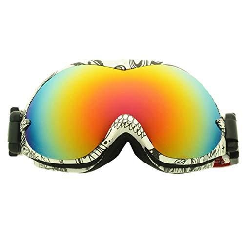 jpfashioning子供用防曇スキーゴーグル、スノーボード用ゴーグルUVプロテクション、子供向けのスノーゴーグルヘルメット、アンチフォッグOTG