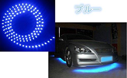 HMT 【エイチエムティー】LEDチューブライト シリコンチューブ 汎用超高輝度 防水 120cm 12V用 LED120個 両端配線タイプ カット可能 自動車・バイク 装飾用 LEDイルミチューブ 取付け簡単 省エネ 車用フレキシブル チューブ ライト ブルー