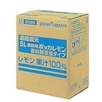 ポッカ 業務用レモン 香料無添加タイプ 5L 濃縮還元