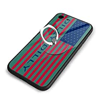 American Flag Letter Dilly Dilly Iphone 7/8 TPUガラス電話ケース +丸型ブラケット落下防止 傷なし