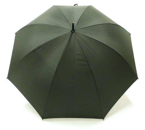 <日本製 超軽量カーボン 紳士長傘> 65cm 手開き 速乾性生地使用 傘袋付き (緑)