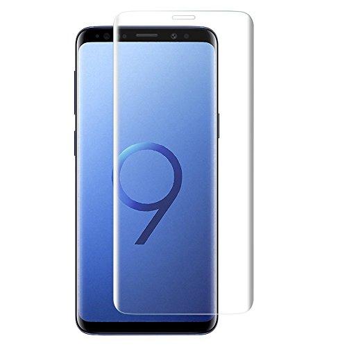 Galaxy S9 Plus ガラスフィルム S9 Plus フィルム 専用 3D 全面 フルカバー フィルム 6.2インチ Samsung ギャラクシー エスナインプラス au SCV39 docomo SC-03K 液晶保護フィルム 木箱 国産強化ガラス素材 ケースに干渉せず クリア