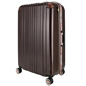 レジェンドウォーカー スーツケース ポリカーボネート 機内持込 ファスナー フレームタイプ ダブルキャスター モカ M(フレーム)