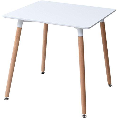 山善(YAMAZEN) Plareaテーブル テーブル 70×70×70cm スクエア イームズ リプロダクト品 デザイナーズ PRT-70(WH)