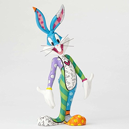 백 스  피규어 LOONEY TUNES FIGURINE BY ROMERO BRITTO : BUGS BUNNY ** NEW ** GIFT BOX [병행수입품]-q1