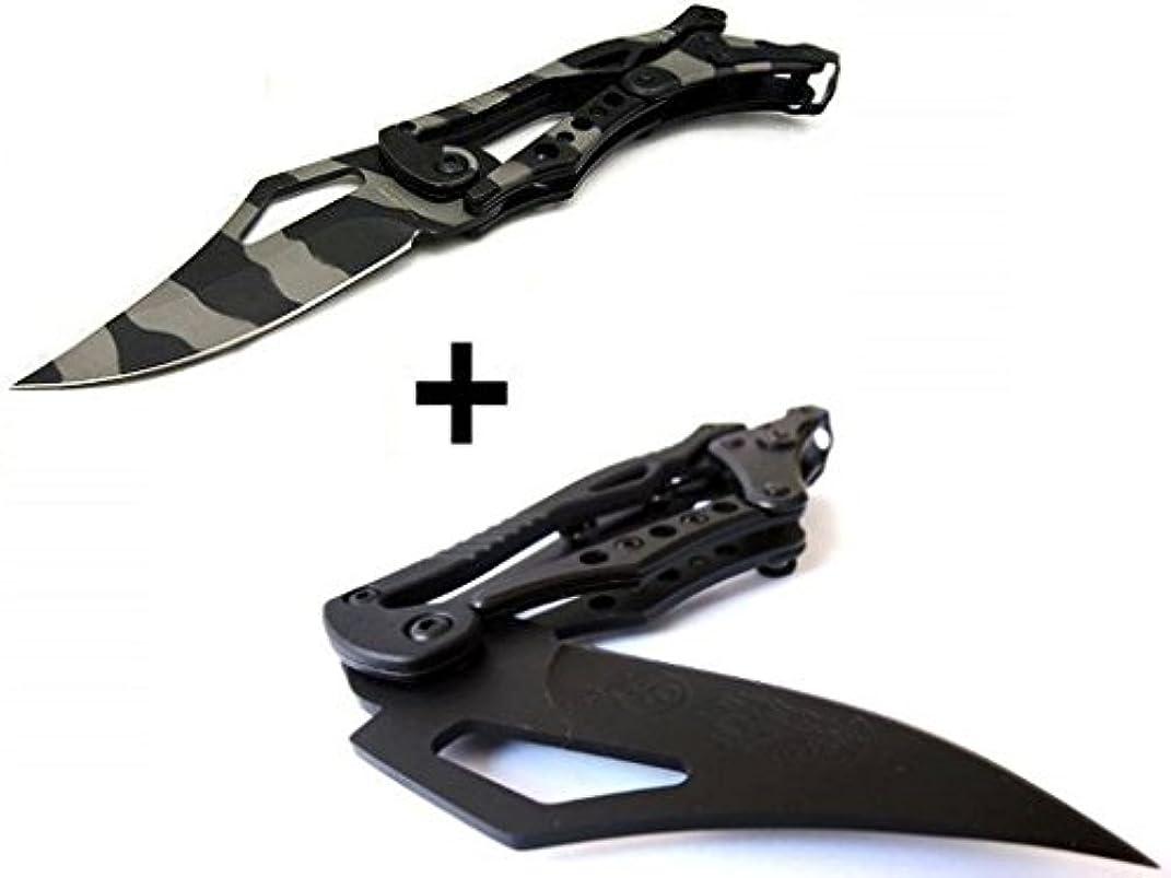 気配りのある潤滑する手首2 Pcs x S.R. トランスフォーマー 折りたたみナイフ 独特な造形、革新的な操作方式、伝統の考え方を打ち破って