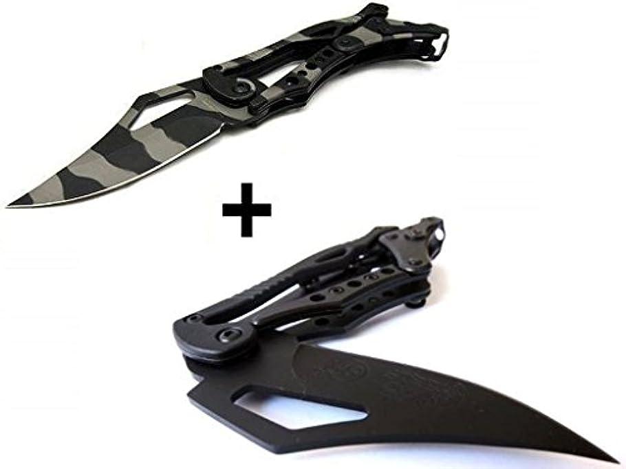 むしゃむしゃ飛ぶ最大化する2 Pcs x S.R. トランスフォーマー 折りたたみナイフ 独特な造形、革新的な操作方式、伝統の考え方を打ち破って