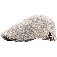 JIALANG Women's Net Gauze Painter Beret Hat Outdoor Adjustable Flat Gatsby Newsboy Hat Lightweight (Color : Gray)