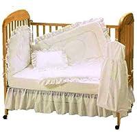Baby Doll Bedding Carnation Eyelet Crib Bedding Set Ecru [並行輸入品]