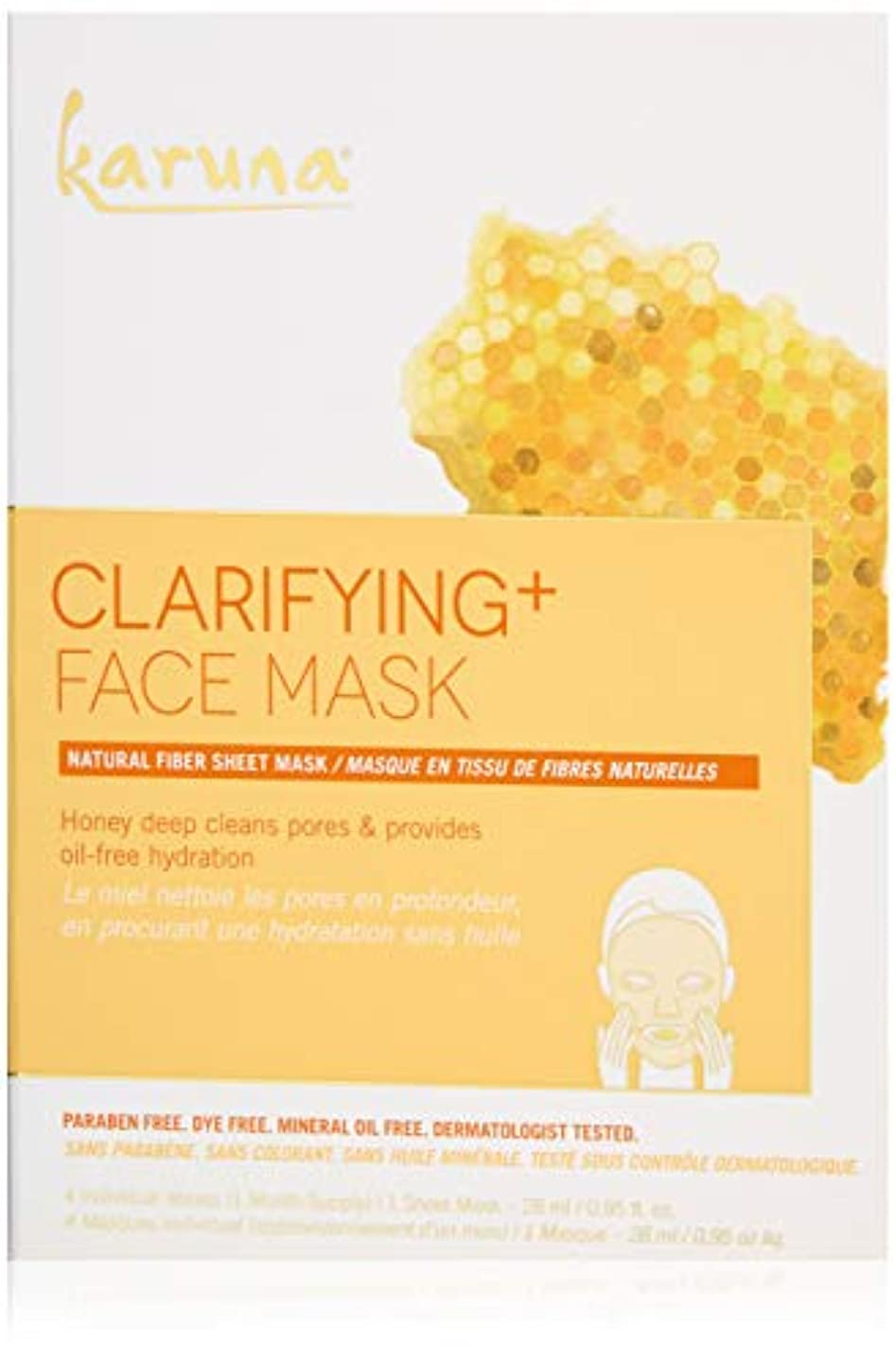 オーバーヘッドナチュラル奪うKaruna Clarifying + Face Mask 4sheets並行輸入品