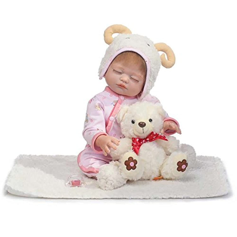 NPK 20インチRebornベビー人形新生児Sleeping So Truly Babiesガール人形シリコンフルボディビニールコスプレ羊DIYおもちゃfor子供クリスマスギフト