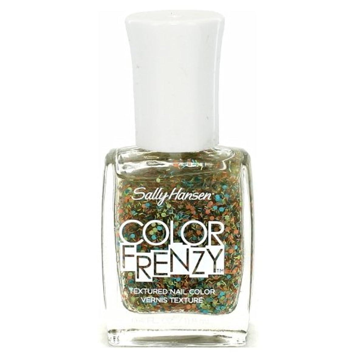 夜間過ち意志に反する(6 Pack) SALLY HANSEN Color Frenzy Textured Nail Color - Paint Party (並行輸入品)