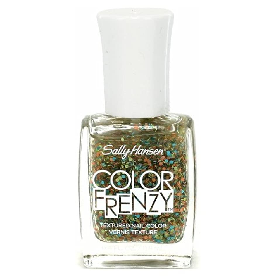 人道的貯水池コジオスコ(6 Pack) SALLY HANSEN Color Frenzy Textured Nail Color - Paint Party (並行輸入品)