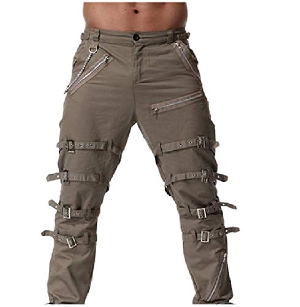狼気体の運命VITryst メンズストレートミッドウエストプラスサイズ標準フィット純カジュアルパンツ