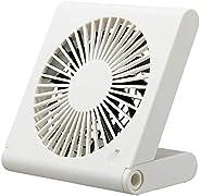 ドウシシャ 卓上扇風機 スリムコンパクトファン 3電源(AC USB 乾電池) 風量3段階 靜音 ピエリア ホワイト FSV-106U WH