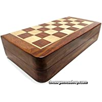 Handmade Magnetic Wooden Chess Set INLAY 18cm - Top quality gift