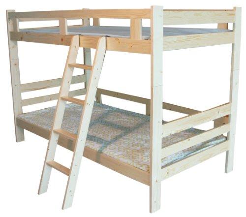 木製二段ベッド 二段ベッド 2段ベッド シングルベッド すのこベッド シンプルデザイン3色選べる(MS) (ナチュラル)