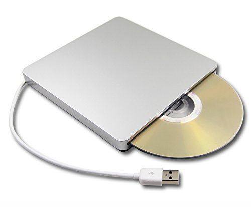 8X DVD-ROM Player USB SuperDrive for Apple iMac 21.5-Inch 2013 A1418 ME086LL/A ME086 All-in-One Desktop DVD-ROM Reader 24X CD-RW Burner External Portable Optical Drive Silver [並行輸入品]