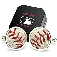 トークンアンドアイコンズ Tokens & Icons Cincinnati Reds Game-Used Baseball Cuff Links [並行輸入品]