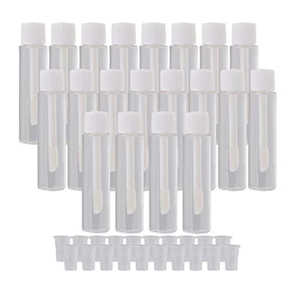 風刺欠席継続中20個入 リップグロスチューブ 5ml リップオイル 空 詰め替え 容器 旅行用品 ホワイト