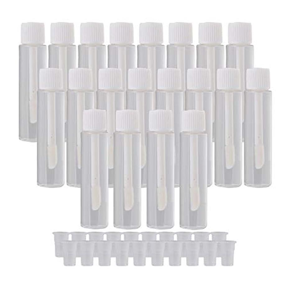 地元ブラインド容疑者20個入 リップグロスチューブ 5ml リップオイル 空 詰め替え 容器 旅行用品 ホワイト