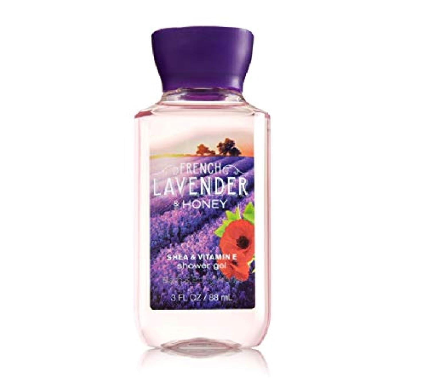 ラジカル強大な決定的バス&ボディワークス フレンチラベンダー&ハニー ボディソープ French Lavender & honey トラベルサイズ [並行輸入品]