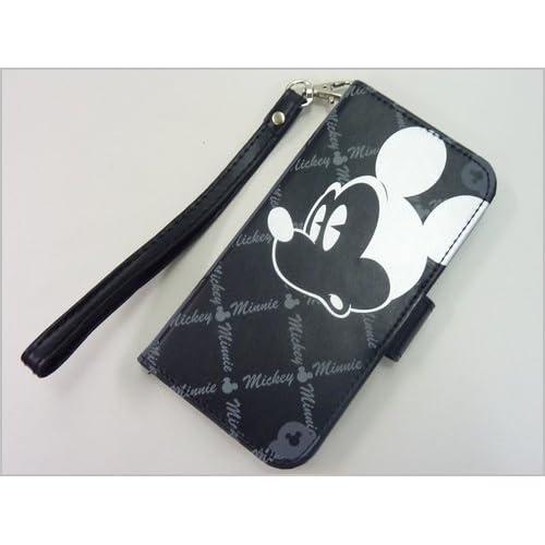 ディズニー ミッキーマウス&ミニーマウス iPhone6、iphone6S(アイフォーン6S)対応手帳型スマホケース/ブラック