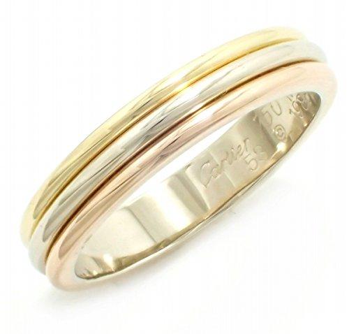 [カルティエ] Cartier トリニティ スリーゴールド ウェディング リング 指輪 #53 13号 スリーカラー シングルタイプ K18YG WG PG 750