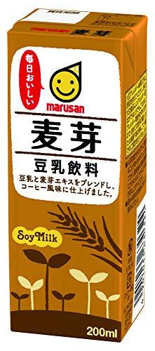 マルサン 豆乳飲料 麦芽 200ml×24本 紙パック