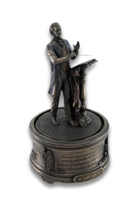 樹脂装飾音楽ボックスBronzed Richard Wagnerブライダルコーラス音楽ボックス4.25 X 7.5 X 4.25インチブロンズモデル# wu76168 a4