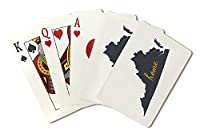 Virginia–ホーム状態–グレーonホワイト( Playingカードデッキ–52カードPokerサイズwithジョーカー)