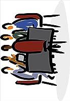 ウォールステッカー 飾り 60×60cm シール式 装飾 おしゃれ 壁紙 はがせる 剥がせる カッティングシート wall sticker 雑貨 ガラス 窓 DIY プチリフォーム パーティー イベント 賃貸 ユニーク 会議 イラスト 001032