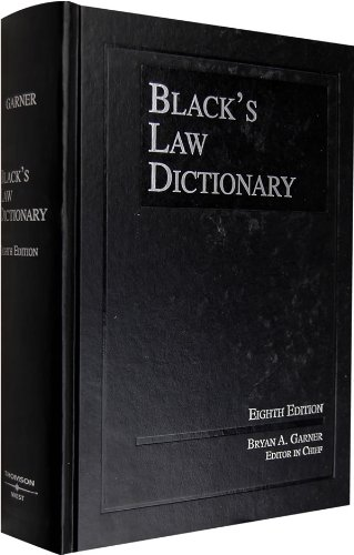 Download Black's Law Dictionary (BLACK'S LAW DICTIONARY (STANDARD EDITION)) 0314151990