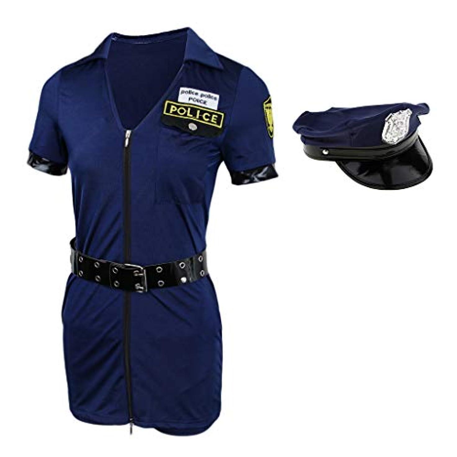 メーター申し込むエラーB Baosity 女性 警察 コスプレ 衣装 ロンパー 制服 ハロウィーン 役員 仮装 衣装