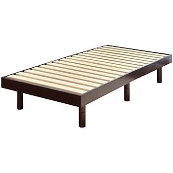 タンスのゲン すのこベッド シングルベッド 天然木 3段階高さ調節 耐荷重:約200kg ブラウン 11719094 17AM 【61886】