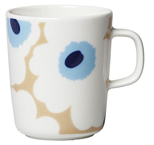 marimekko マグカップ ベージュ オフホワイト ブルー 250ml 63431 815