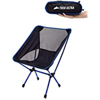 [TrekUltra] [TrekUltra Portable Compact Lightweight Camp Chair with Bag - Ultralight Folding Camp Chairs - Great Beach Hiking Backpacking and Sporting Events Chair with Adjustable All Terrain Feet] (並行輸入品)
