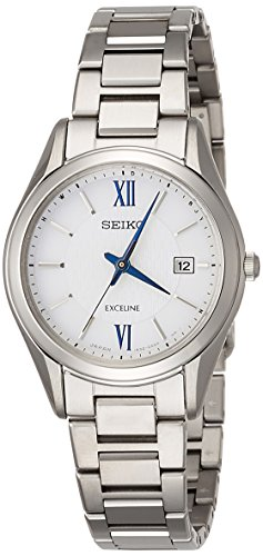 エクセリーヌEXCELINE 腕時計 EXCELINE ソーラー電波 チタンモデル ホワイト文字盤 SWCW145 レディース