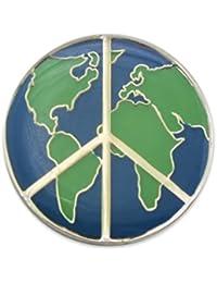 EvolveFISH 世界平和ラペルピン 直径1インチ