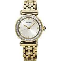 Seiko Ladies Crystal Set Gold Watch SRZ468P 3 Hands 4954628205346