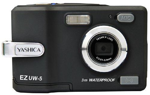 【防水仕様】 YASHICA 503万画素 防水デジタルカメラ ブラックEZ UW-5 BK (水深3mまで対応) 26178