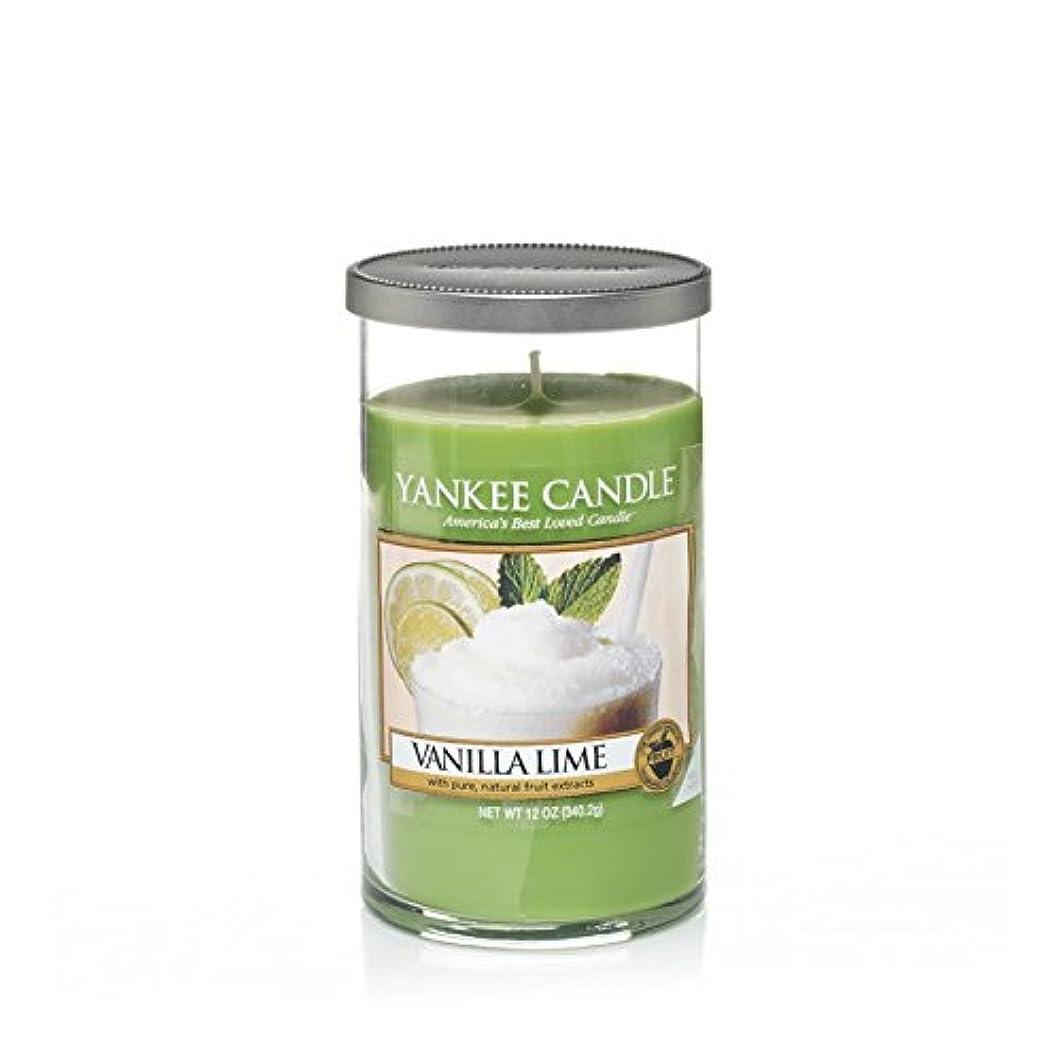 傀儡十分百Yankee Candles Medium Pillar Candle - Vanilla Lime (Pack of 2) - ヤンキーキャンドルメディアピラーキャンドル - バニラライム (x2) [並行輸入品]