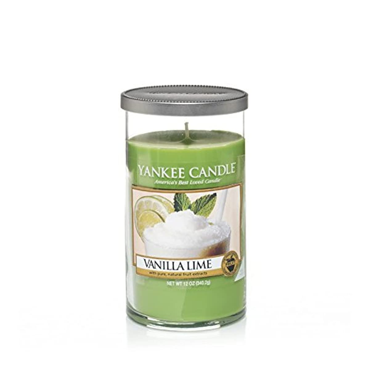 Yankee Candles Medium Pillar Candle - Vanilla Lime (Pack of 2) - ヤンキーキャンドルメディアピラーキャンドル - バニラライム (x2) [並行輸入品]