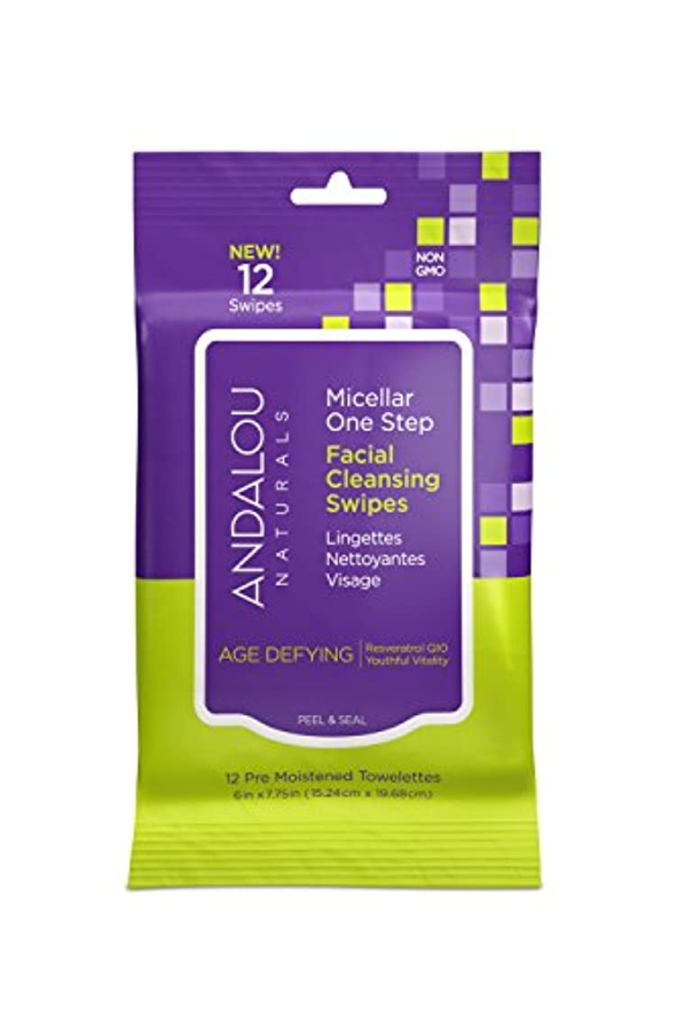 クローゼット証明書バイオレットオーガニック ボタニカル クレンジングシート 洗顔シート ナチュラル フルーツ幹細胞 「 Aミセラスワイプ 12枚入り 」 ANDALOU naturals アンダルー ナチュラルズ