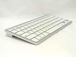 Bluetooth キーボード ワイヤレス コンパクト iPad iPhone 対応 (シルバー×ホワイト)
