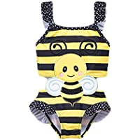 Fashion Girls' Swimwear Swimsuit Baby Girl Swimsuit Girl Baby Cute Hot Spring Toddler One-Piece Cartoon Swimsuit Novel (Size : 73cm)