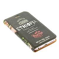 iphone7 ケース 手帳型 コーヒー豆 レザーケース スマホケース iphoneケース (iPhone7用, エチオピアシングルオリジン)