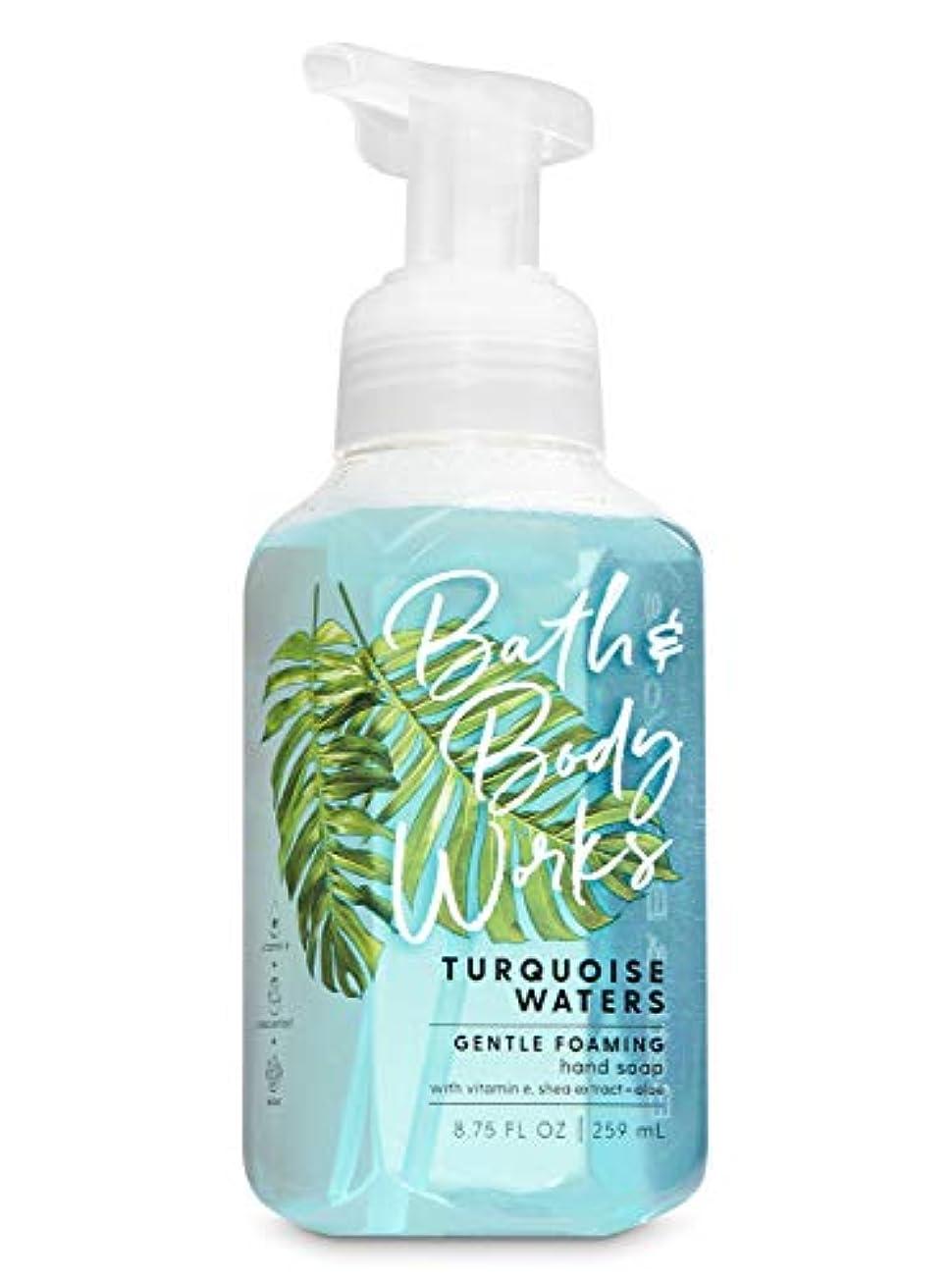 ヨーグルト繊毛横たわるバス&ボディワークス ターコイズウォーター ジェントル フォーミング ハンドソープ Turquoise Waters Gentle Foaming Hand Soap