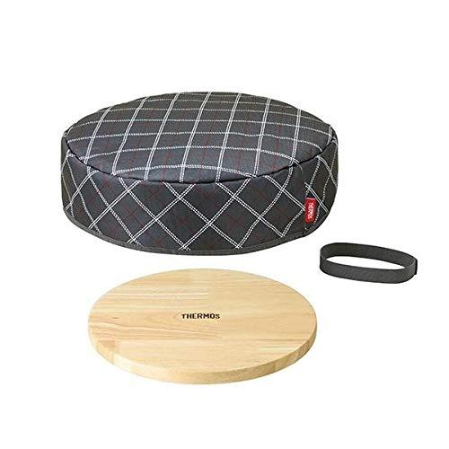 THERMOS(サーモス) フライパン保温カバー(木製プレート付) GY・グレー KAC-001